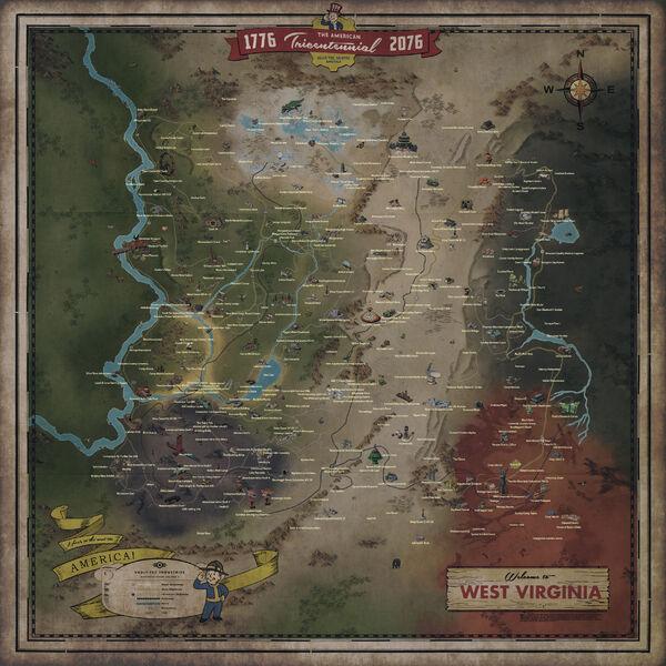 アパラチアの広大なマップ